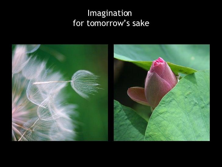 Imagination  for tomorrow's sake