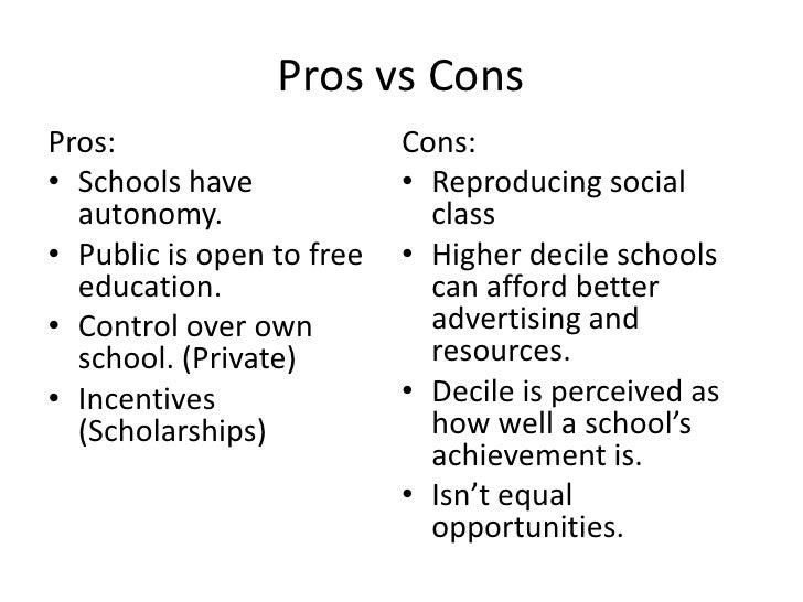 public vs private schools pros and cons