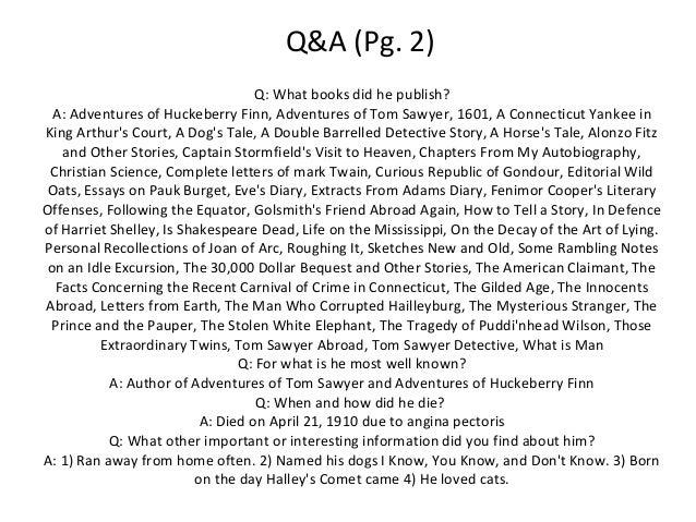 huckeberry finn essay The adventures of huckleberry finn (tom sawyer's comrade) by mark twain a gl assbook cl assic.