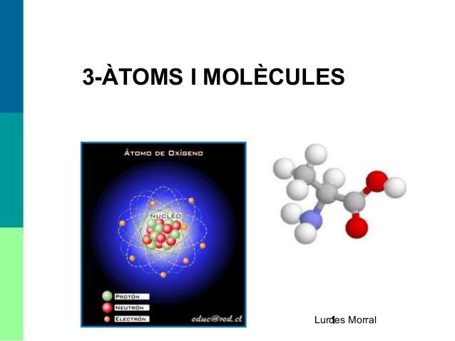 1 3-ÀTOMS I MOLÈCULES Lurdes Morral