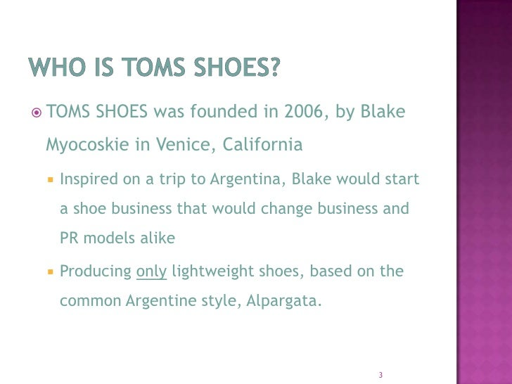 Toms Shoes Presentation