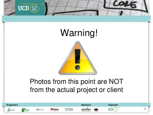 Warning!             Photos from this point are NOT             from the actual project or clientSupporters               ...