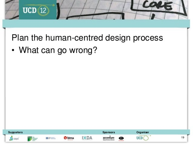 Plan the human-centred design process  • What can go wrong?Supporters              Sponsors   Organiser                   ...
