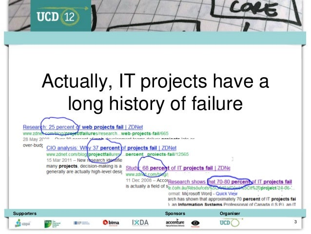 Actually, IT projects have a                long history of failureSupporters                  Sponsors   Organiser       ...