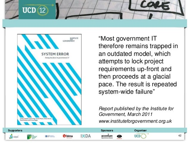 """""""Most government IT             therefore remains trapped in             an outdated model, which             attempts to ..."""