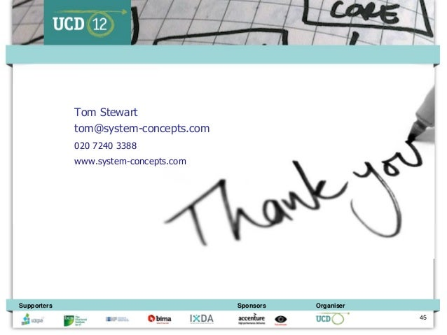Tom Stewart             tom@system-concepts.com             020 7240 3388             www.system-concepts.comSupporters   ...