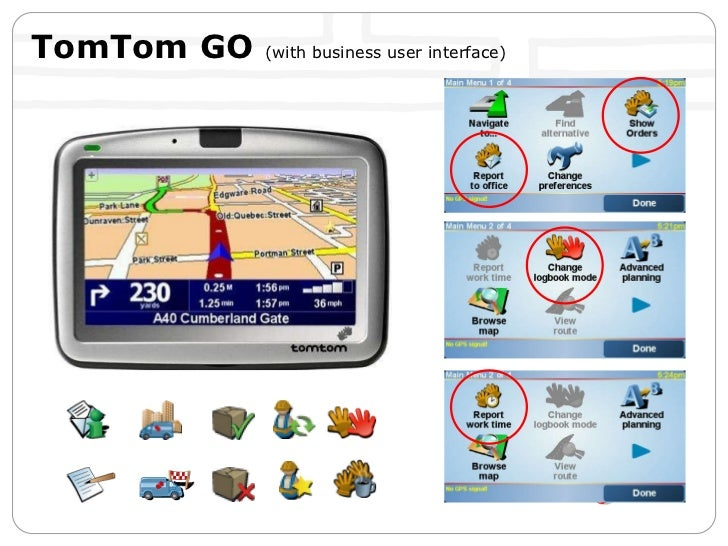 TomTom GO  (with business user interface)