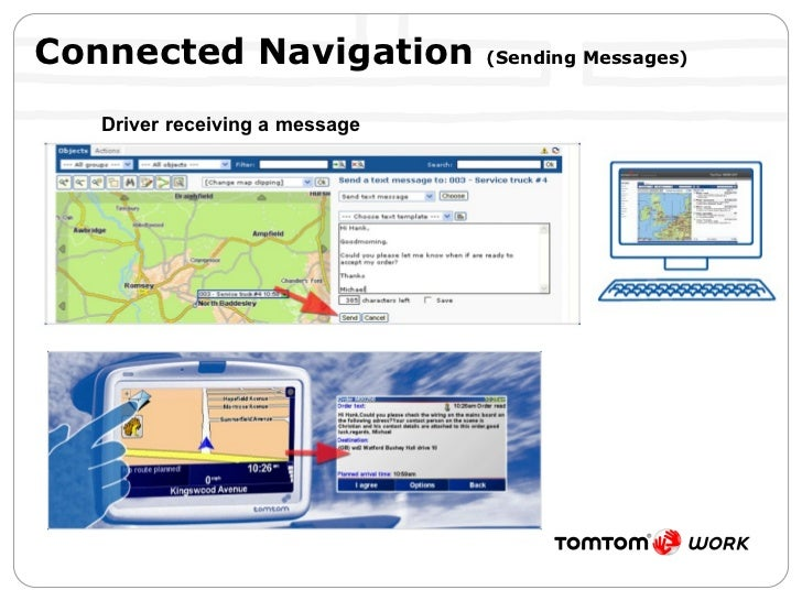 Connected Navigation  (Sending Messages) Driver receiving a message