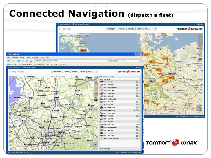 Connected Navigation  (dispatch a fleet)