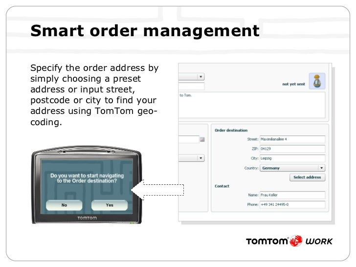 Smart order management  <ul><li>Specify the order address by simply choosing a preset address or input street, postcode or...
