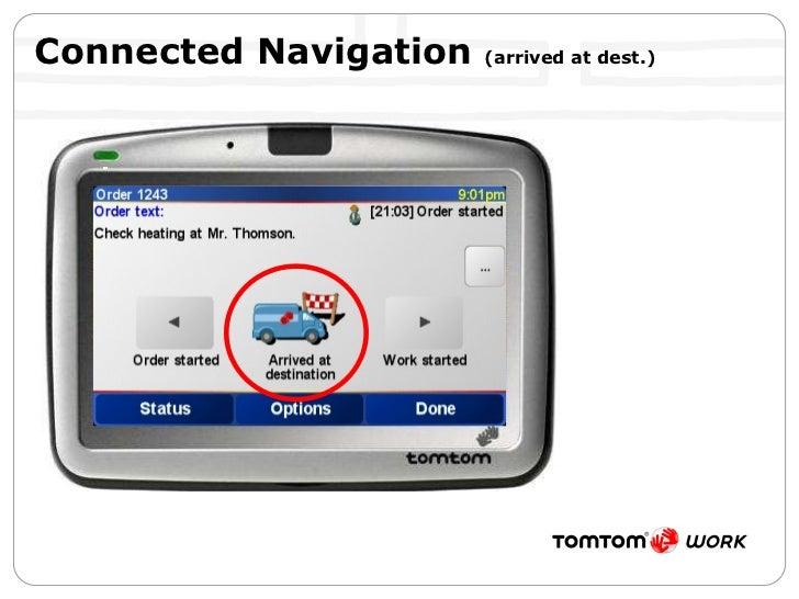 Connected Navigation  (arrived at dest.)