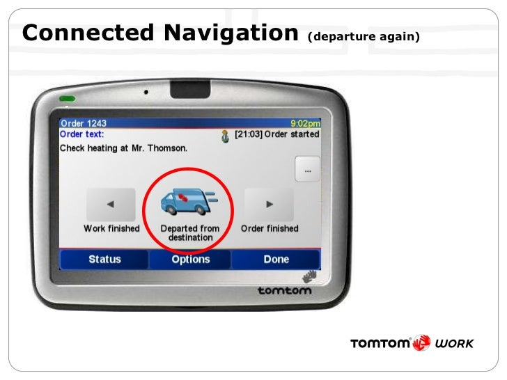 Connected Navigation  (departure again)