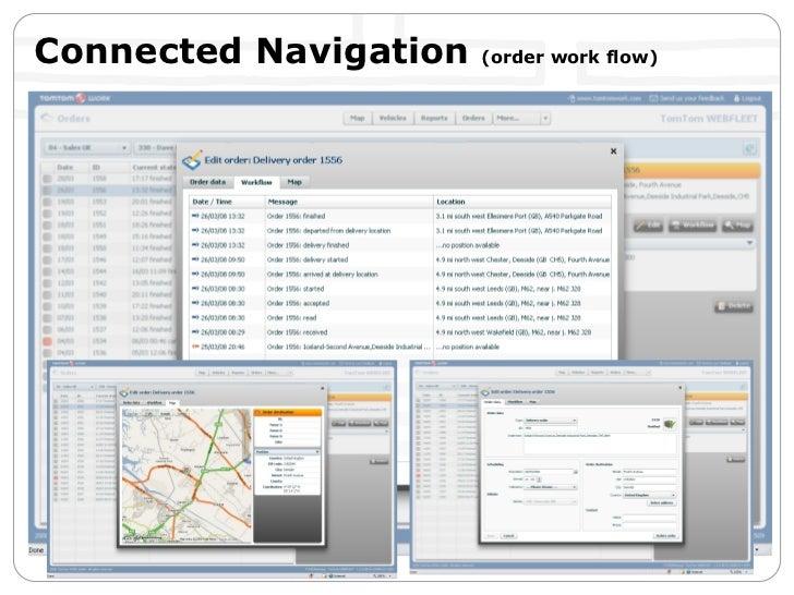 Connected Navigation  (order work flow)