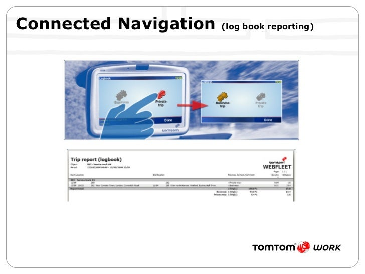 Connected Navigation  (log book reporting)