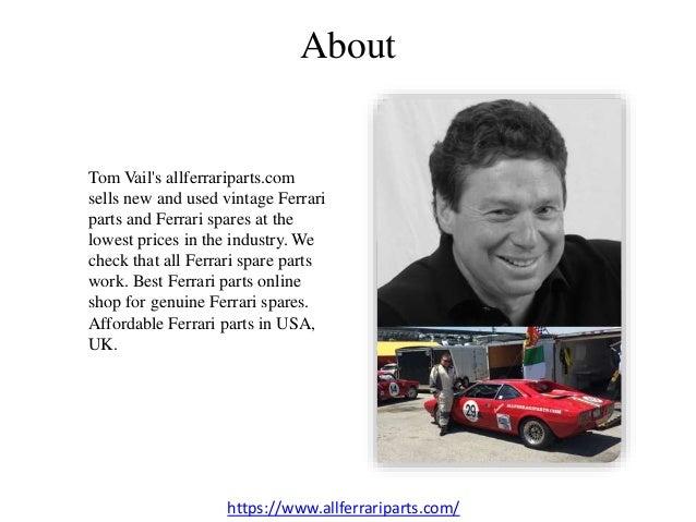 Tom Vail S All Ferrari Parts Ppt