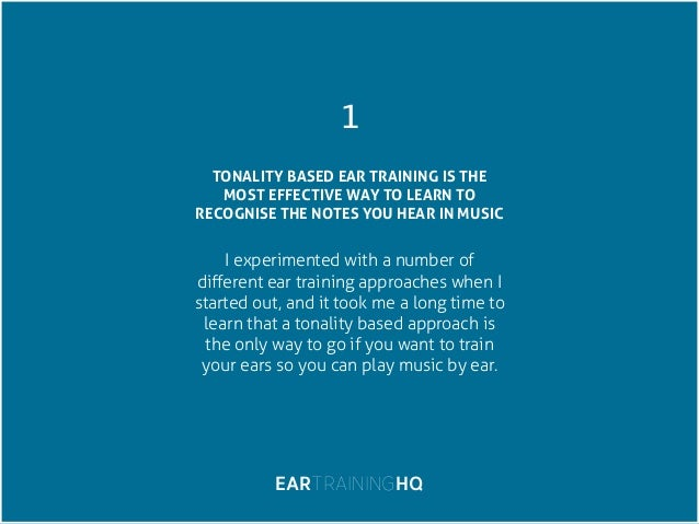 Tonality training