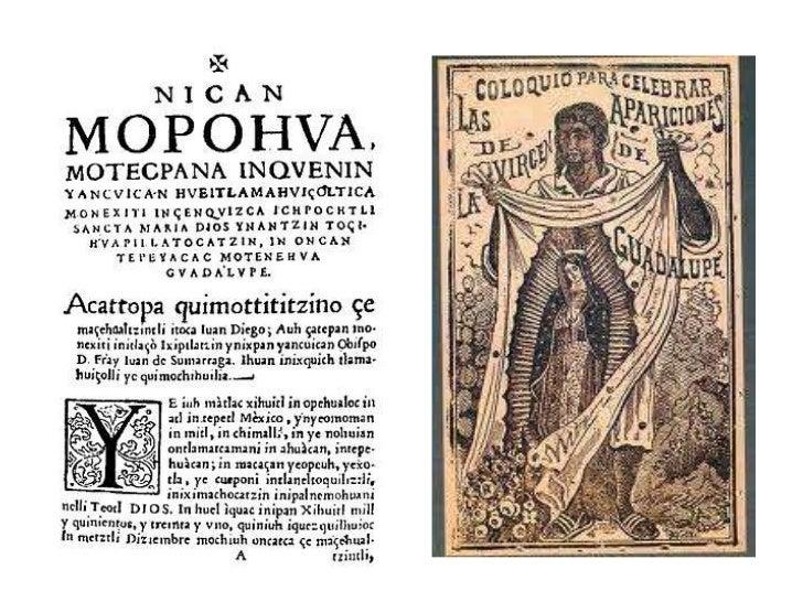 DIOS Y NANTZIN GUADALUPE            Por Carlos León Castillo Sánchez• El original del Nican Mopohua fue escrito sobre pape...