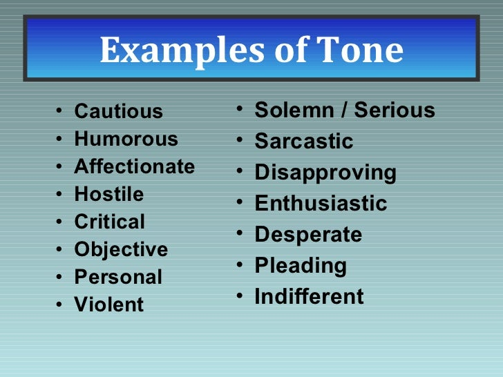 Types Of Tones In Poems 5