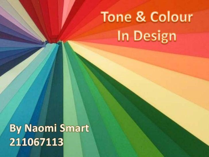 Tone & Colour in Design