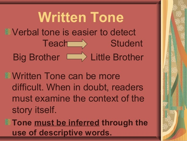 tone and mood essay Students practice changing the tone and mood of an essay by learning how to manipulate their word usage this is a great addition to your author's tone and mood.