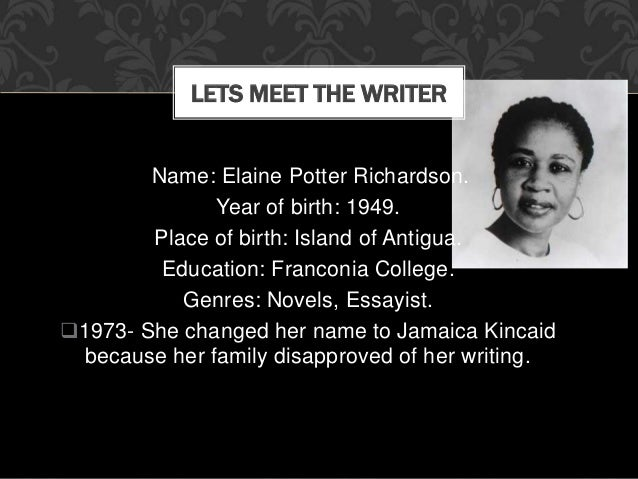 essays on annie john by jamaica kincaid Annie john by jamaica kincaid 6 pages 1484 words december 2014 saved essays save your essays here so you can locate them quickly.