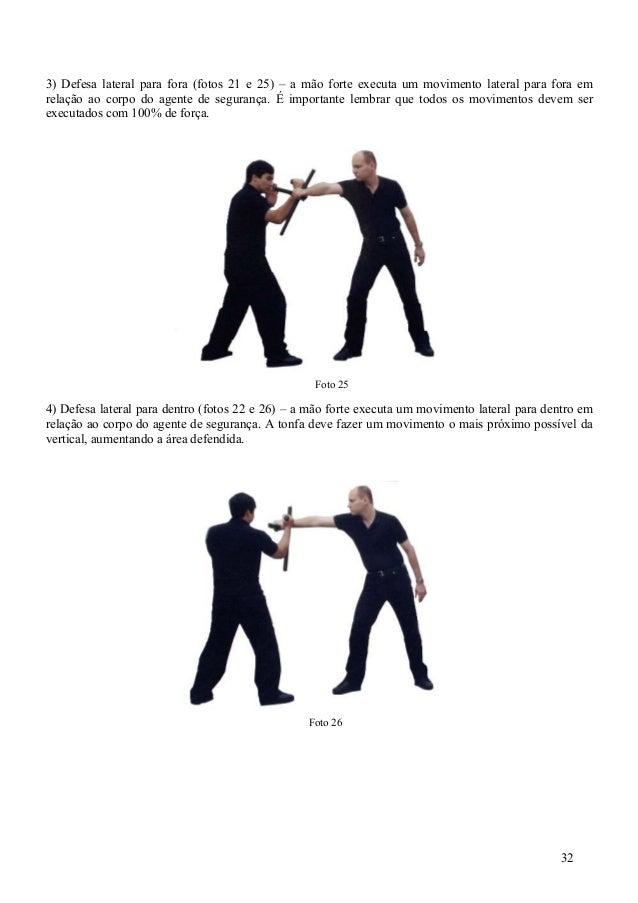 Tonfa arma não letal para profissionais de segurança