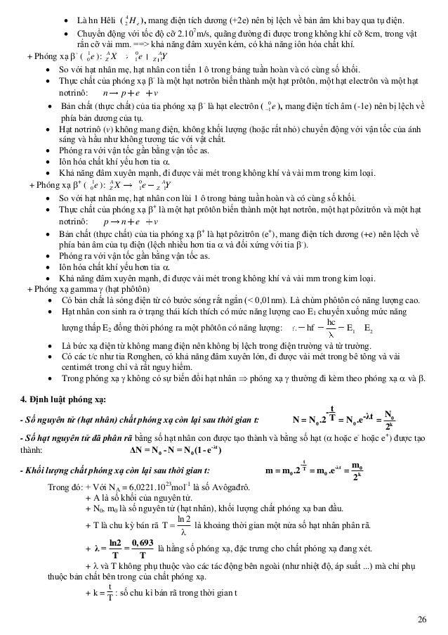26  Là hn Hêli ( eH4 2 ), mang điện tích dương (+2e) nên bị lệch về bản âm khi bay qua tụ điện.  Chuyển động với tốc độ ...