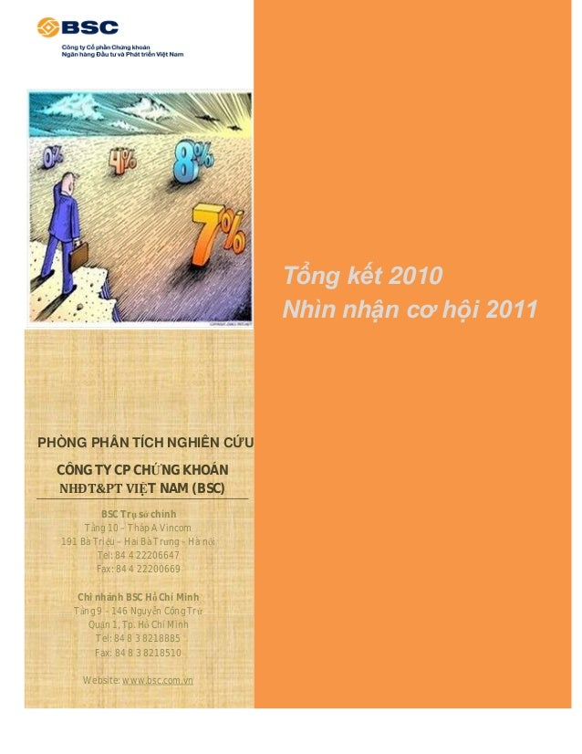 Tổng kết 2010                                         Nhìn nhận cơ hội 2011PHÒNG PHÂN TÍCH NGHIÊN CỨU  CÔNG TY CP CHỨNG KH...
