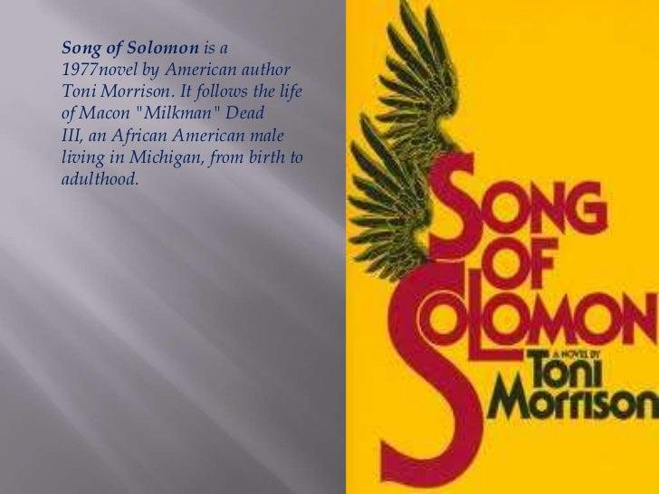Song of solomon toni morrison summary