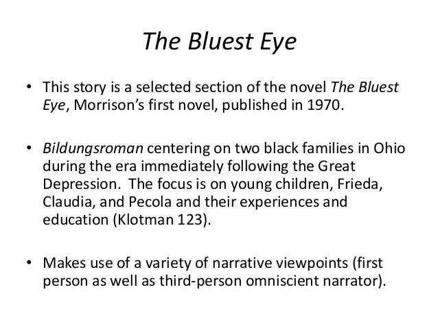 a summary of the bluest eye by toni morrison Students explore thematic topics, symbols and motifs in toni morrison's the bluest eye.
