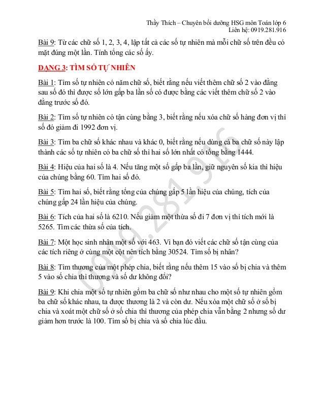 Toán lớp 6 - Chuyên đề về Tập Hợp và bổ túc Số Tự Nhiên Slide 3