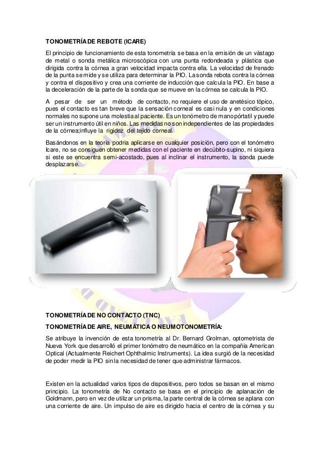 141873932c 9. TONOMETRÍADE REBOTE (ICARE) El principio de funcionamiento de esta  tonometría ...