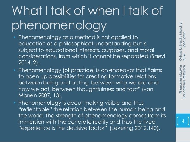 Phenomenology research methods