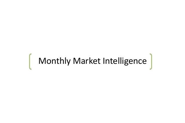 Monthly Market Intelligence