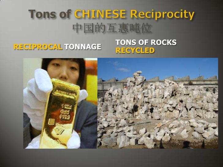 TONS OF ROCKSRECIPROCAL TONNAGE   RECYCLED