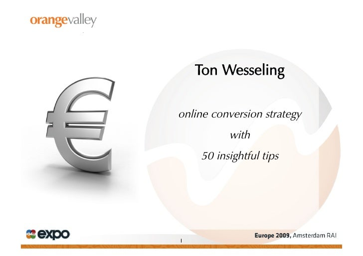 Ton Wesseling  online conversion strategy            with      50 insightful tips     1