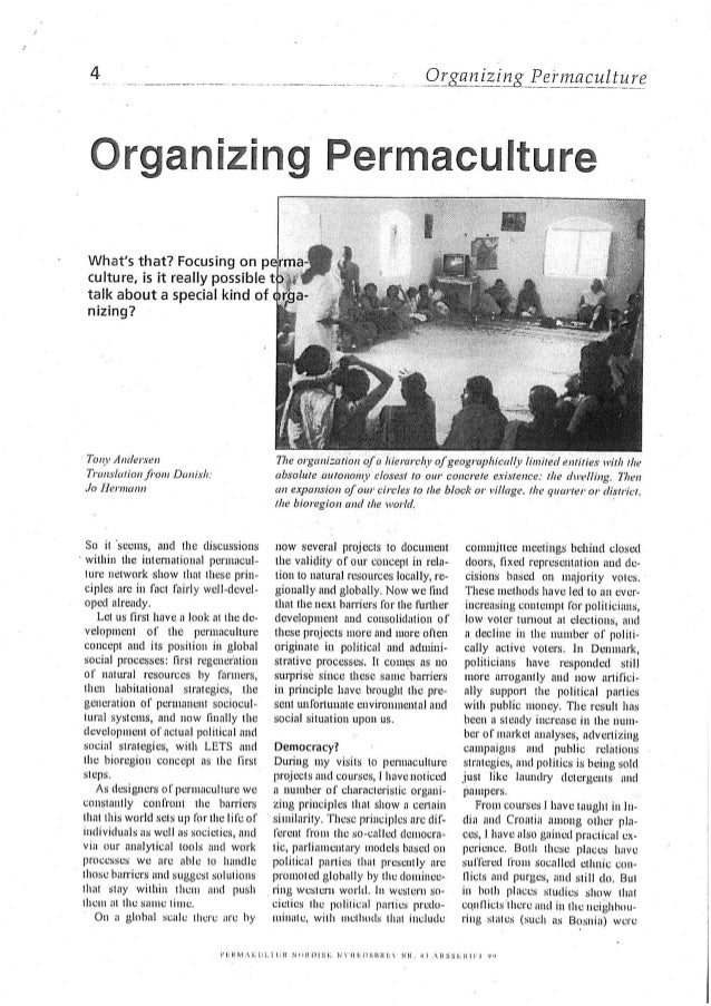 Organizing Permaculture by Tony Andersen
