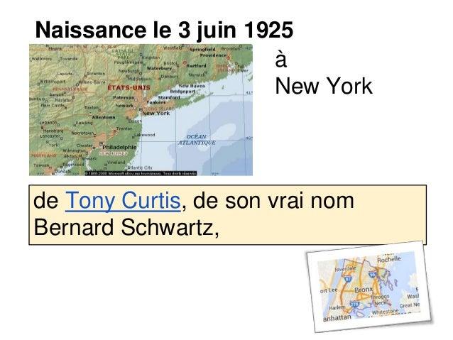 Naissance le 3 juin 1925 à New York de Tony Curtis, de son vrai nom Bernard Schwartz,