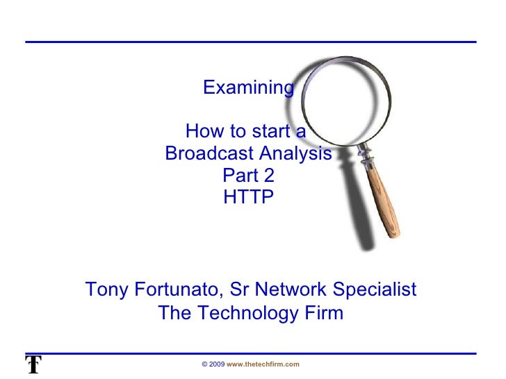 OSTU: How to Start a Broadcast Analysis - Part Two (Tony Fortunato)
