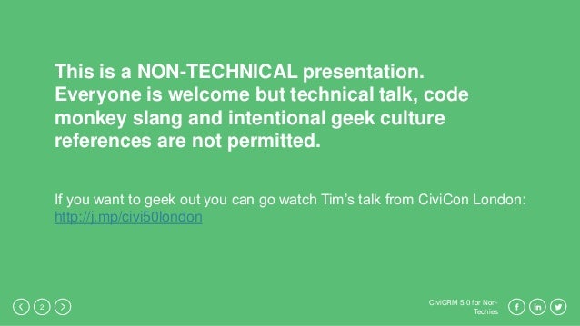 CiviCRM 5.0 for Non-Techies Slide 2