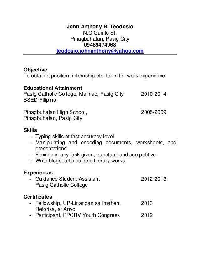Format Ng Resume Photo Resume Example Style 26 Free Resume Creator