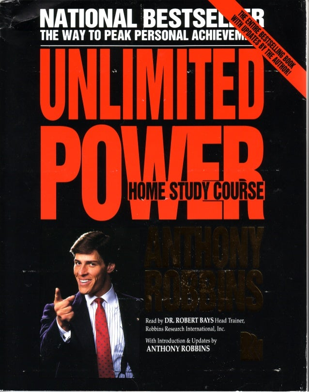 Tony robbins unlimited power home study course 180p manual