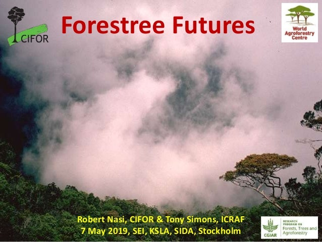 Robert Nasi, CIFOR & Tony Simons, ICRAF 7 May 2019, SEI, KSLA, SIDA, Stockholm Forestree Futures