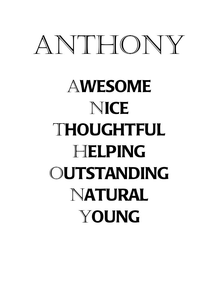 Tonys poems