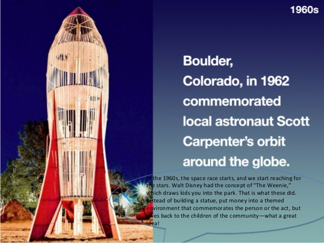 In  the  1960s,  the  space  race  starts,  and  we  start  reaching  for   the  stars.  Walt...