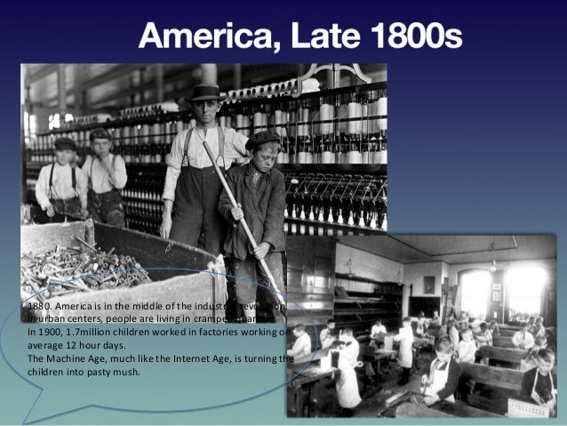 America,  Late  1800s   1880.  America  is  in  the  middle  of  the  industrial  revolu?on.   I...