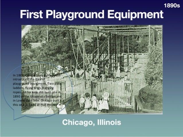 First  Playground  Equipment     • Chicago,  Ill.   1890s   In  1889,  Charlesbank  gymnasium   int...