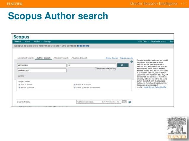     21    21  Scopus Author search