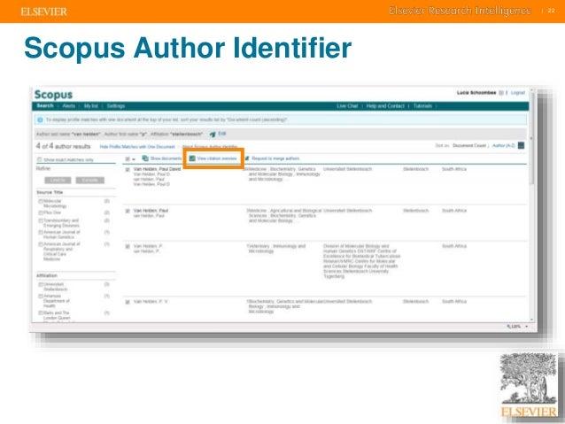     22    22  Scopus Author Identifier