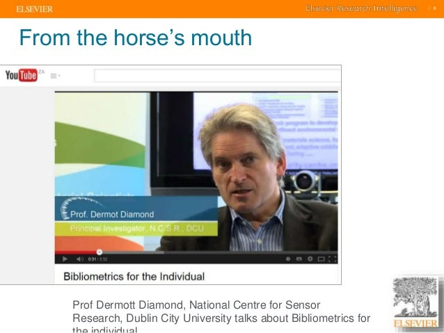     8    8  From the horse's mouth  Prof Dermott Diamond, National Centre for Sensor  Research, Dublin City University tal...